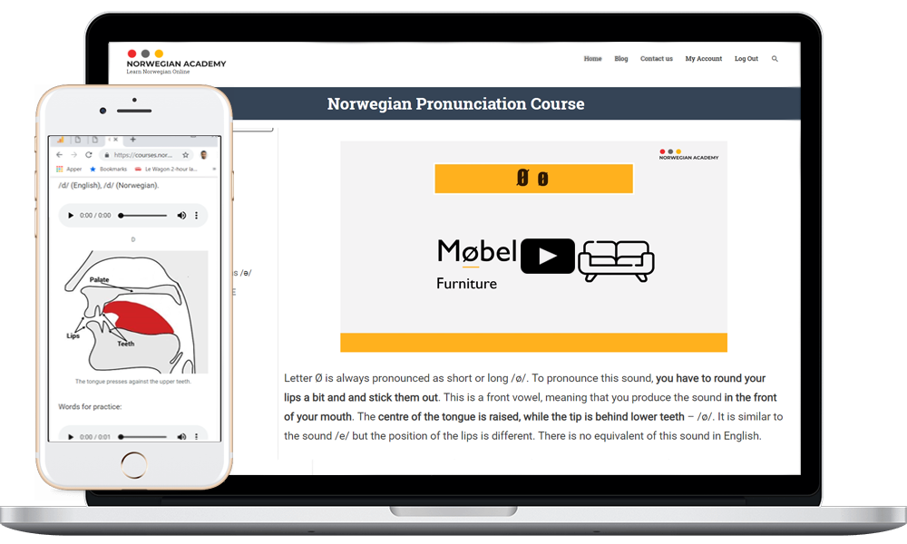 Norwegian course available on all devices